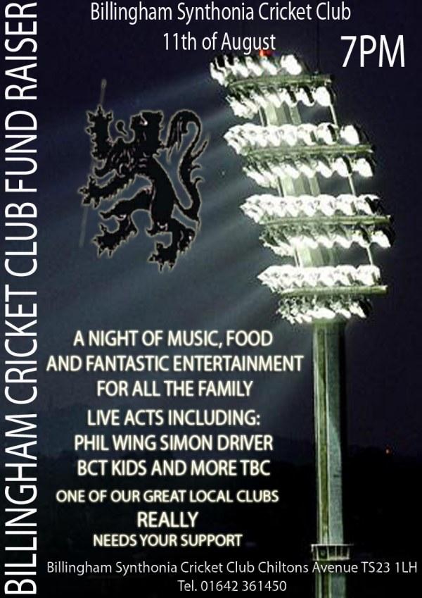 Billingham Cricket Club Fundraiser