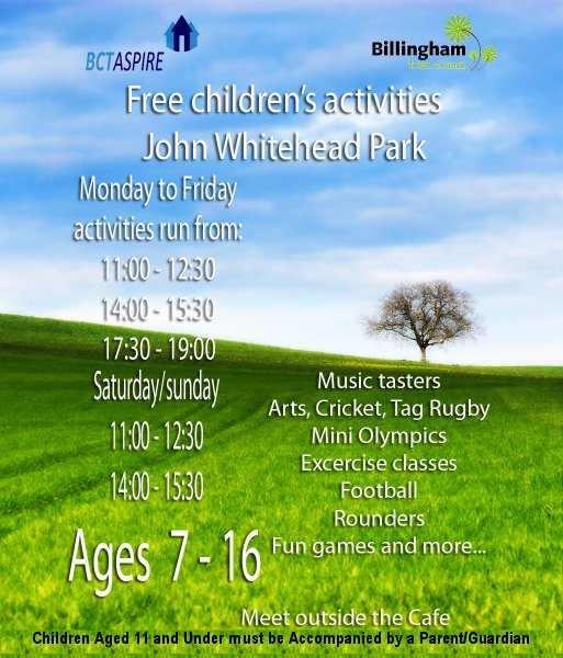 John Whitehead Park Summer Activities