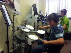 Photo from Our Thursday night drum lessons with Steve Oakden