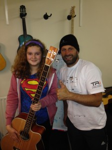 Paul & Ellie with our new Bass