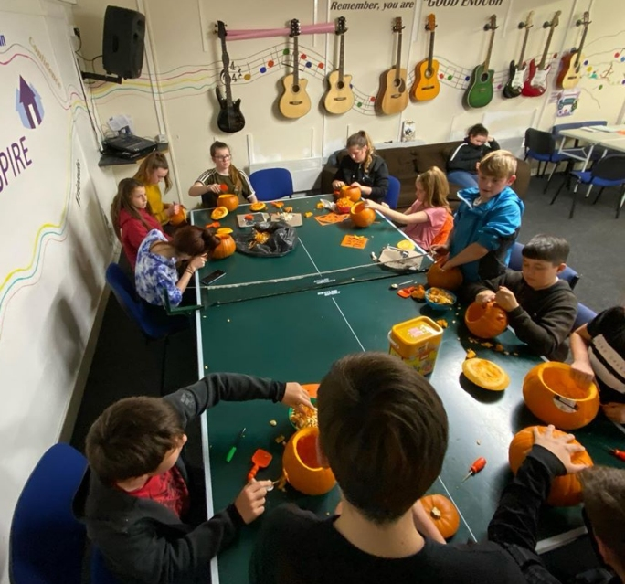 BCT's under 11's Youth Club preparing for Halloween