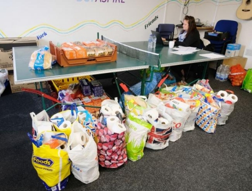 Food parcels at the BCT Aspire Hub, Billingham Picture: TEESSIDE LIVE/IAN COOPER
