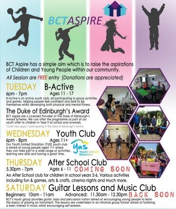 BCT Activities poster